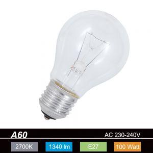 Glühlampe Classic E27 100W klar, A60 1x 100 Watt, 100 Watt, 1.340,0 Lumen