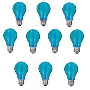 LHG Glühlampe, Leuchtmittel, Glühbirne AGL E27 40W grün/blau Längs gestreift