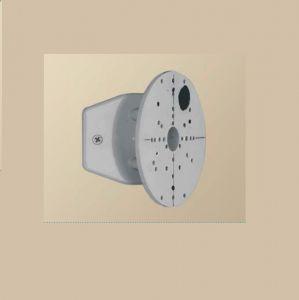 Halter für die Eckmontage für Außenwandleuchten - in Silber silber