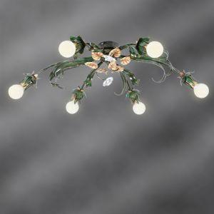 Handgefertigte Florentiner Deckenleuchte - 6-flammig 6x 40 Watt, 24,00 cm, 80,00 cm, 58,00 cm