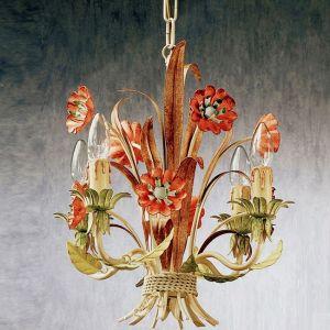 Handgefertigter Kronleuchter Blumendekor
