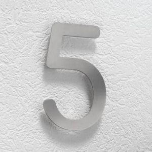 Hausnummer 5 aus Edelstahl, klein Hausnummer 5