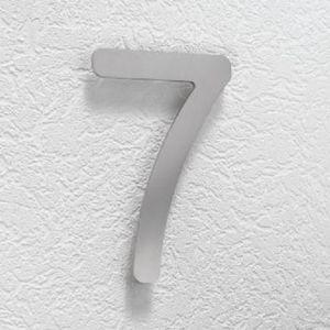 Hausnummer 7 aus Edelstahl, klein Hausnummer 7