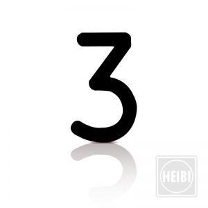 Hausnummer 3 aus Folie zum Aufkleben Höhe 8cm