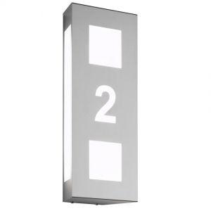 Hausnummernleuchte aus Edelstahl