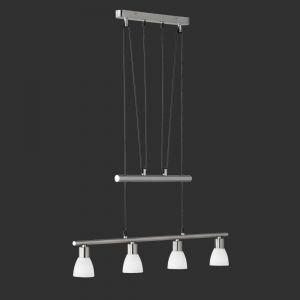 Höhenverstellbare LED-Pendelleuchte Carico, Nickel matt / Chrom