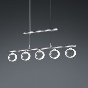 Höhenverstellbare LED-Pendelleuchte Corland, 5-flg.
