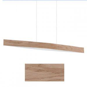 Hochwertige LED-Pendelleuchte in zwei Holzfurnierarten - Eiche Eiche