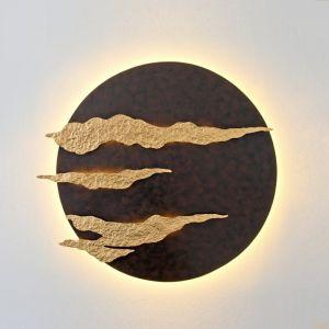 Holländer LED-Wandleuchte Firmamento, braun schwarz
