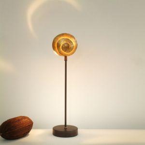 Holländer Tischleuchte Schnecke in gold