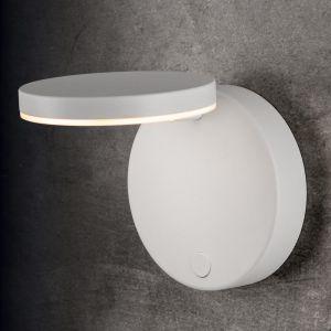 Holtkötter LED-Wandleuchte Plano, Tastdimmer, Struktur weiß weiß