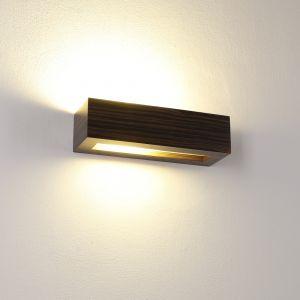Holzwandleuchte Caspe 30 in Furnier Zebrano dunkel