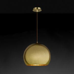 Hufnagel Kugel-Pendelleuchte Bolero in gold