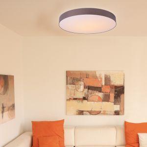 Hufnagel LED-Deckenleuchte Schirm taupe, 4 Größen
