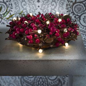 Innen LED-Globelichterkette - 20 runde Dioden - 6 Farben