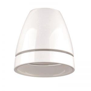 Kelchförmiges Glas opal glänzend mit Rillenschliff