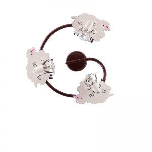 Kinder Wand- oder Deckenspirale Sheep - 3-flammig
