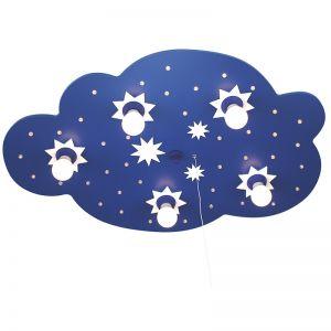 Kinder-Deckenleuchte, Sternchenwolke mit LED, Sternenhimmelfunktion, - 50 cm