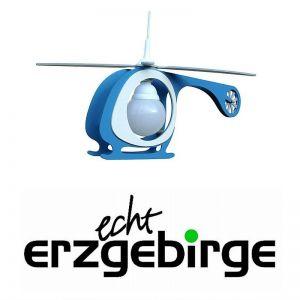 Kinderzimmerlampe Helikopter in weiß-blau blau/weiß
