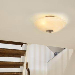 LED Decken Leuchte Wohn Zimmer Landhaus Stil Lampe rund Alabaster Glas Optik