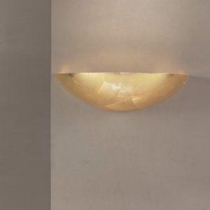 Klassische Wandleuchte - Glas mit Goldfolie beschichtet - Länge 38 cm 1x 60 Watt, 11,00 cm, 38,00 cm, 15,00 cm