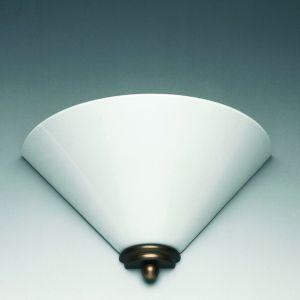 Klassische Wandleuchte, Sockel Altmessing, Opalglas weiß bauchig weiß, 20,00 cm, 20,00 cm, bauchig