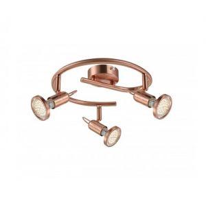 LHG Klassischer LED Deckenspot - Rondell - in mattem Kupfer - inklusive LED-Leuchtmittel und  LED-Taschenlampe
