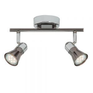 Klassischer Strahlerbalken mit LED-Leuchtmittel - Deckenstrahler 2- oder 4-flammig