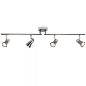 Klassischer Strahlerbalken mit LED-Leuchtmittel - Deckenstrahler 4-flammig 4x 3 Watt, 76,50 cm