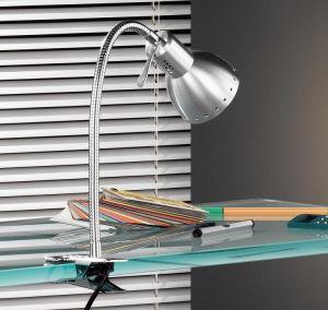 Klemmleuchte, schwenkbar, Aluminium, E14 Fassung LED geeignet
