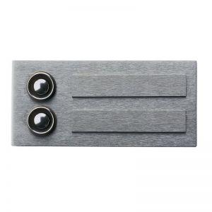 Klingelplatte aus Edelstahl, mit oder ohne Lasergravur