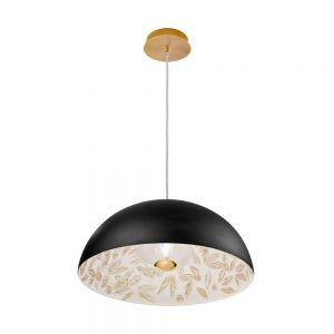 Kolarz® Pendelleuchte Aura 2 Liberta in Gold/ Libertà Black/White Ø 50cm