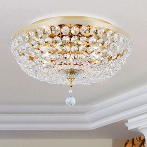 Kristall Deckenleuchte - 3 Größen - Oberfläche in Gold 24 K