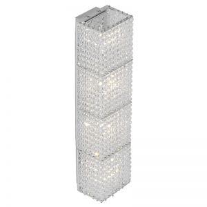 Kristall-Wandleuchte, Höhe 37 cm