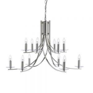 Kronleuchter Ascona 12-flammig in Chrom chrom, Chrom
