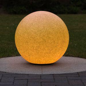 LHG Kugelleuchte Ø50cm in Sandstein-Optik inkl. 6W Leuchtmittel