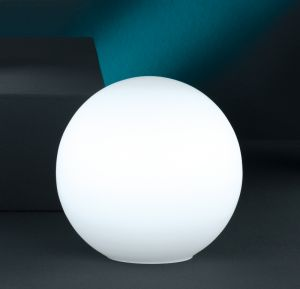 Kugelleuchte aus weißem Opalglas, 20cm Durchmesser 20,00 cm