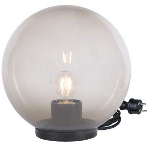Kugelleuchte, D=50cm, rauchfarben, mit Gummizuleitung, inkl. LED
