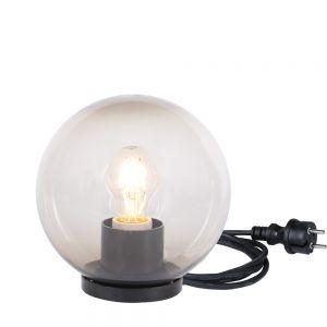 Kugelleuchte, rauchfarben, mit Zuleitung, inkl. LED, D=20cm
