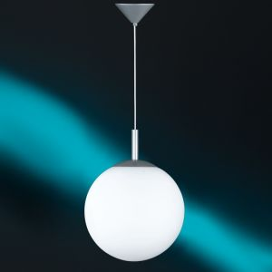 Kugel-Pendelleuchte mit weißem Opalglas 30cm 1x 77 Watt, 30,00 cm