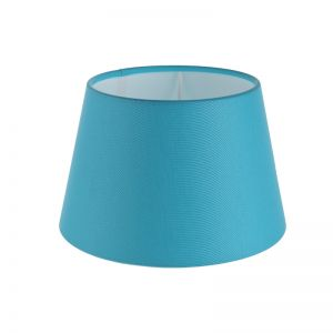 Lampenschirm aus Stoff in Blau rund Ø 20cm Aufnahme E27 unten
