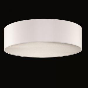 Lampenschirm Chintz Stoff weiss, Ø 50 cm