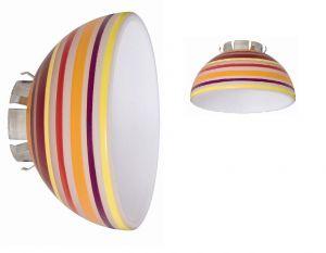 Lampenschirm für das Seilsystem Sheela aus buntem Glas