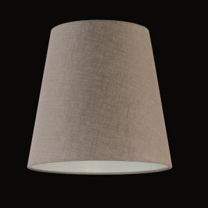 Lampenschirm - Leinen Grau-beige -  34 cm H: 32 cm, Aufnahme E27 oben