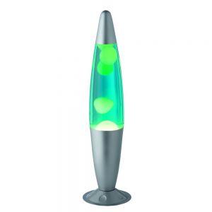 Lavalampe mit 1x 35 Watt Halogenleuchtmittel, grün grün