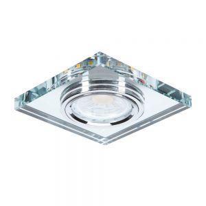 LED 7Watt Deckeneinbauleuchte LED-Hintergrund eckig Glas