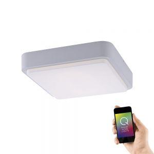 LED Außendeckenleuchte, Smart Home, Q®, eckig, weiß, ZigBee weiß