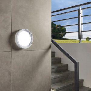 LED Außenleuchte Ø 32,5cm in weiß oder schwarz