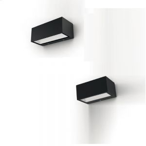 LED Außenwandleuchte, anthrazit, Länge 14cm 1x 9 Watt, anthrazit, 8,85 cm, 14,00 cm, 6,50 cm