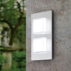 LED Außenwandleuchte Pias Edelstahl, 25 x 15 cm